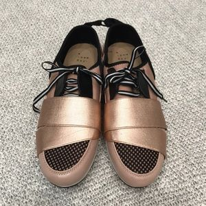 a new day Shoes - Lacey Banded Sneakers - A New Day Rose Gold